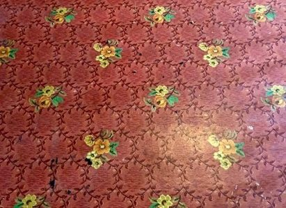 X. Life is A Bowl of Roses Linoleum Piece