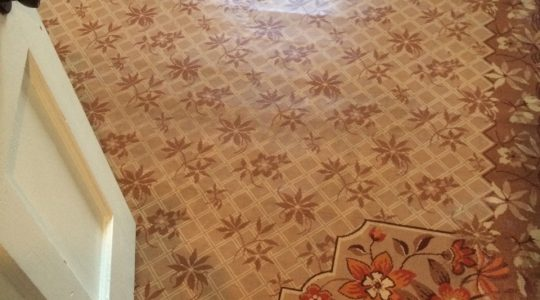 Sweet Summer Hand painted Linoleum Rug
