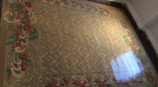 Janice's Gem Hand painted Linoleum Rug