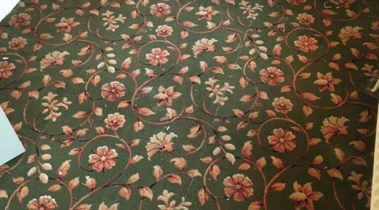 Floral Pavilion Vintage Carpet